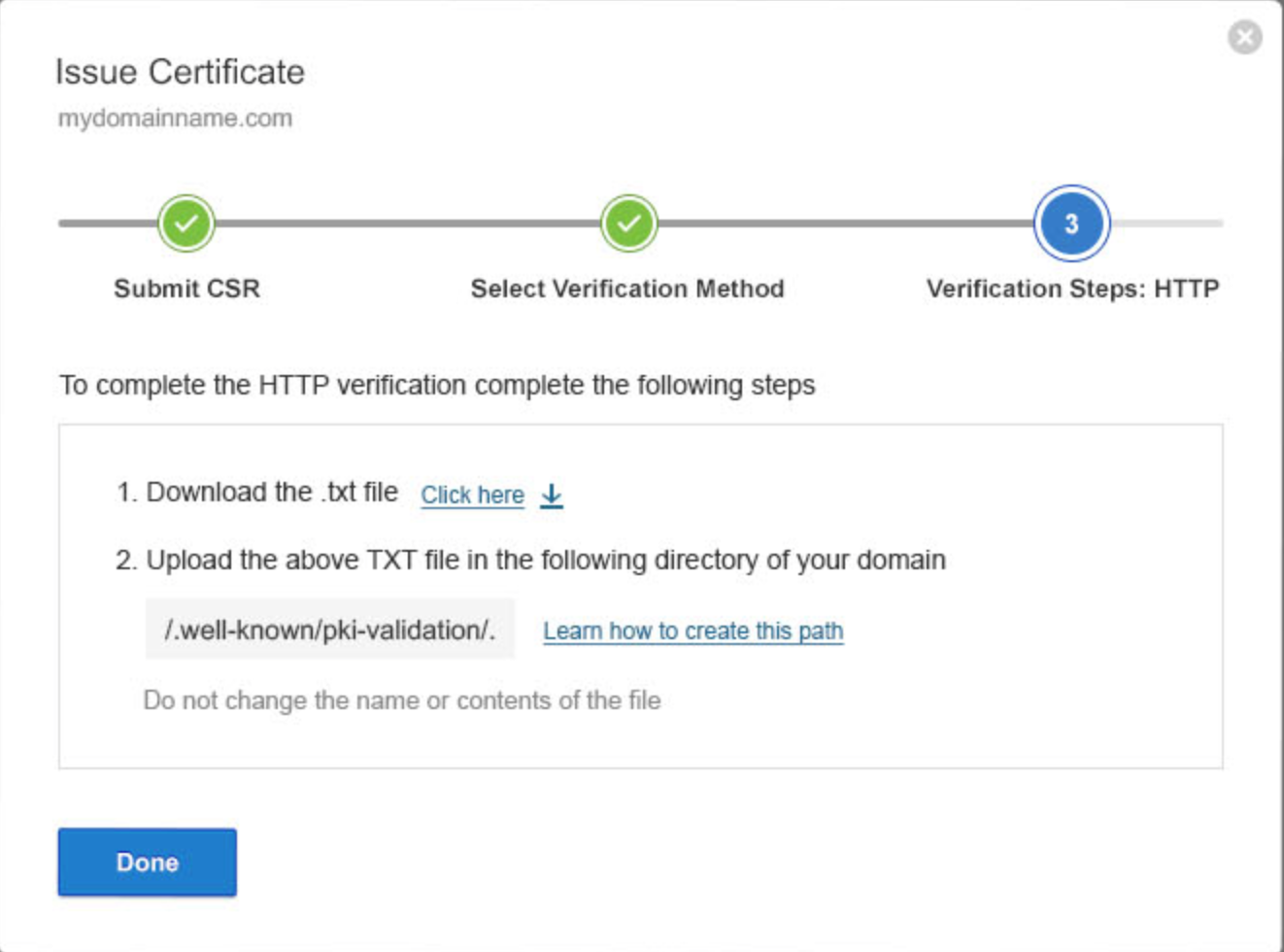 HTTP Verification